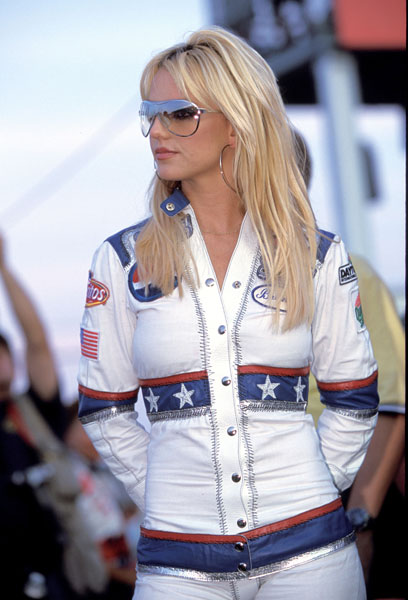 2001 NASCAR Pepsi 400 - Grand Marshall Britney Spears